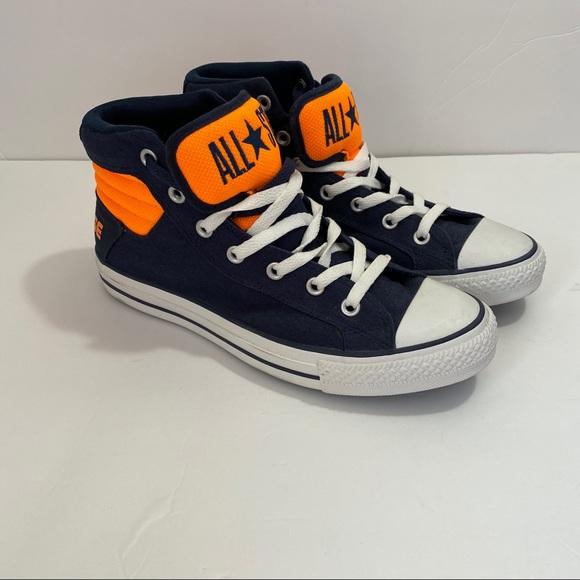 Converse High Tops Orange and Blue Unisex